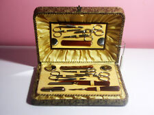 Vintage Beautiful Nail Salon in a Box Nicely Lined Everything you Need For Nails