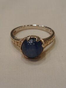 Genuine Kyanite Ring Sterling Silver Size 8.25