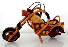 Motorrad 24x11x18 cm, S, Bike Chopper Holz Modell Geschenk für Motorradfahrer