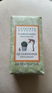Crabtree & Evelyn Gardeners Exfoliating Hand Soap Bar 158g New & Sealed