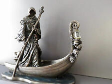 Charon, Greek mythology ferryman of the dead with lantern / bronze statue 25cm