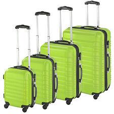 ABS Reisekoffer Set 4tlg. Trolley Kofferset Hartschalenkoffer Hartschale grün