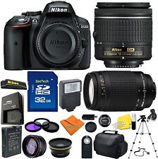 Nikon D5300 Digital Camera +4 Lens 18-55mm AF-P + 70-300 + 32GB Top Notch Bundle