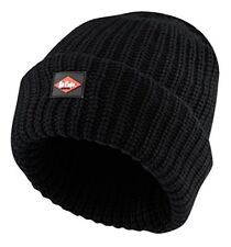 Lee Cooper Mens Knitted Fleece Lined Beanie Hat - Black, One Size