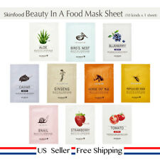 Skinfood Beauty In a Food Mask Sheet 10 kinds x 1 sheet + Free Sample [ US ]