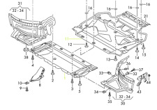 Audi A6L OEM 12 - 15 4G0863822D 12 - 17 4G0863822E  Engine Splash Shield Guard