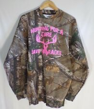 Russell Outdoors Women's Forest Green Long Sleeve Hunting For A Cure Size Large