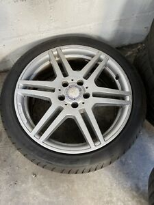 """4 X GENUINE MERCEDES 18"""" AMG ALLOYS AND TYRES"""