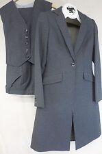 Reed Hill Ladies Saddleseat suit 3 pc Dark Grey Pinstripe poly  8 - Made in USA