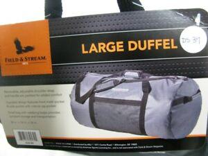 DS39 FIELD & STREAM LARGE DUFFEL BAG GRAY