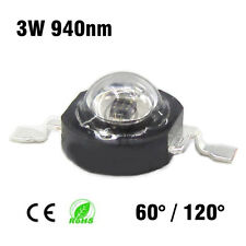 1x Led chip 3w infrarrojo 940nm infrared night vision