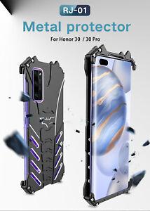 R-just Metal Bumper Alu Back Cover Case f Huawei Honor Mate 30 P20 P30 P40 Pro