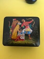 Vintage Russian Hand Painted Lacquer Box