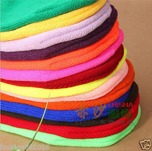 Hip-hop pure color Harajuku style wild thin woolen hat knitted tide cold hat
