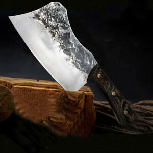 Serbian Meat Cleaver Handmade Forged Chopping Stainless Steel Kitchen Chef Knife