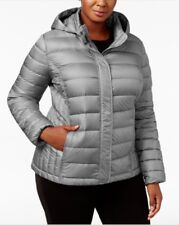 bf67c981dce 32 Degrees Plus Size Hooded Packable Down Puffer Coat Smoke Grey 0x  43-84