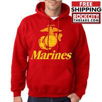 MARINES HOODIE Usmc Us Hooded Military Sweatshirt Semp Marine Corps Semper Fi US