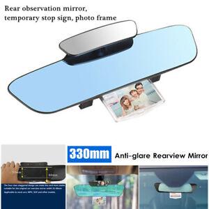 330mm HD Car Wide Convex Curve Interior Rear View Mirror Photo Frame Anti-glare