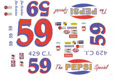 #59 Jim Hurtbutise Pepsi Ford 1972 1/25th - 1/24th Scale Waterslide Decals