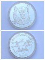 Medaille Papst Johannes Paul II. 2. Mai 1987 Ruhrgebiet Feinsilber
