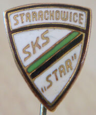 SKS STARACHOWICE Vintage Club crest type badge Stick pin fitting 13mm x 15mm