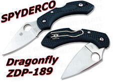 "Spyderco DragonFly 2 Plain Green FRN ZDP-189 Steel 5.5"" Overall C28PGRE2 NEW"