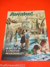 AWAKE! - IS BELIEF IN A CREATOR REASONABLE - NOV 2011