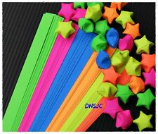 120 strips Origami Papers Folding kit Lucky Wish Star, Reflective Color 1x25 cm.