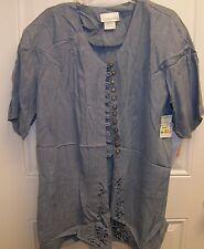 Pride & Joy Blue 2 Piece Pant Suit Woman's Size 20 NWT