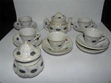 ANTIQUE 13 PIECE PORCELAIN MINIATURE TEA SET TEASET