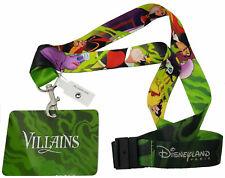 Disneyland Paris Disney Villains Ursula Malificent Lanyard Pass Ticket Holder
