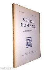 STUDI ROMANI. Rivista bimestrale. Anno VI - N. 3 Maggio-Giugno 1958