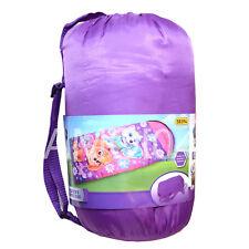 Paw Patrol Skye Everest Girls Hooded Sleeping Bag & Backpack Straps 300gsm Fill