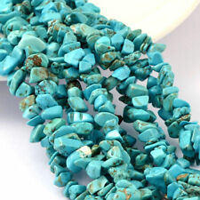 """5 Strds 35.4"""" Natural White Jade Chip Beads Faux Turquoise Gemstone Dyed 4~10mm"""