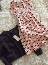 Baby Gap Girl 18/24 Flutter Animal Dress And Gray Cardigan Sweater Set NEW