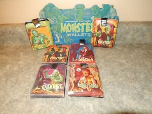Copy Display 1960s Famous Monsters Wallet Cardboard Mattel dracula wolfman mummy