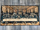 """The Last Supper Tapestry  Vintage 20"""" x 38"""" Made in Italy"""