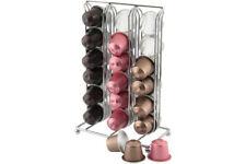 Nespresso Pod Holder 36 Capsule Rack Chrome Stand Coffee 6x6 Storage Kitchen