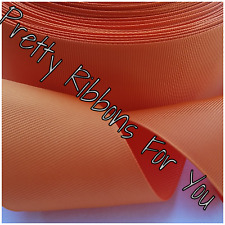 "Solid Orange 2"" wide grosgrain ribbon the listing is for 10 yards"