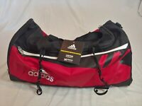 Adidas Team Issue HydroShield Medium Duffle Gym Bag Black/Red Size 21x13x12 Tags