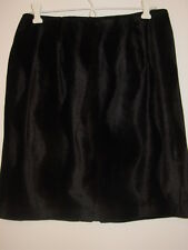 David Paul New York faux fur black skirt swirl pattern sissy goth Made USA-8P
