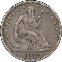 1859-P Seated Half Dollar Great Deals From The Executive Coin Company