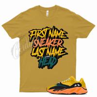 Gold SNEAKERHEAD T Shirt to match Yeezy 700 Sun Azareth Wave Runner Inertia Salt