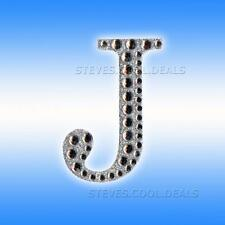 Large 5cm Letters Diamante Self Adhesive Post Box Favour Embellishment Craft NEW