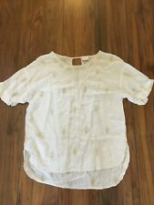 EAST EMBROIDERED CREAM TOP SIZE 16