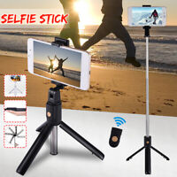 NEW bluetooth Selfie Stick Wireless Extendable+Tripod Remote For Apple Samsung
