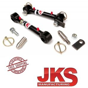 """JKS Front Quicker Sway Bar Disconnects fits 0""""- 6"""" Lift for 1976-1995 Jeep CJ YJ"""