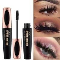 New Black 4D Silk Fiber Waterproof Eyelash Extension Volume O6Z5