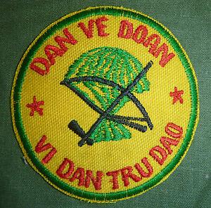 UNITED PEOPLE - ARVN Error PATCH - Defense Militia - SAIGON - Vietnam War - 7385