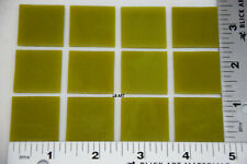 """0221.30- 12 PIECES 1"""" x 1"""" OPAQUE CITRONELLE BULLSEYE 3mm THICK GLASS 90 COE"""